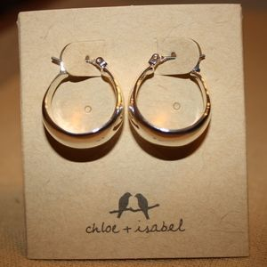 La Lune Sculpted Click-Top Hoop Earrings